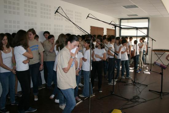 Enregistrement CD Les choristes Mai 2008