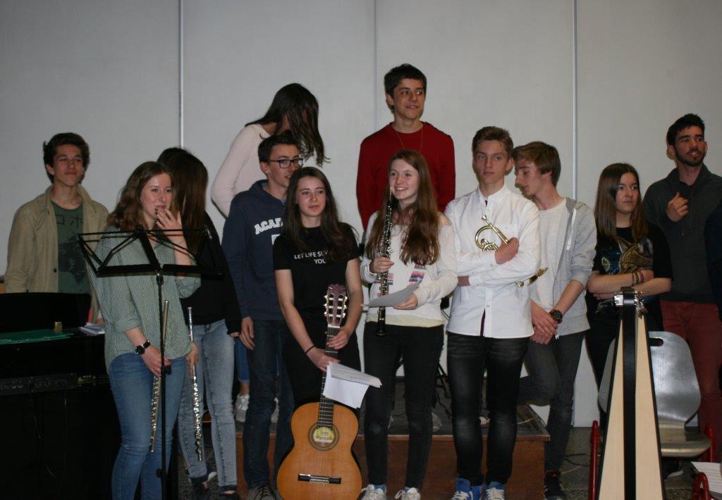 Concert du Lycée Option Musique Avril 2017