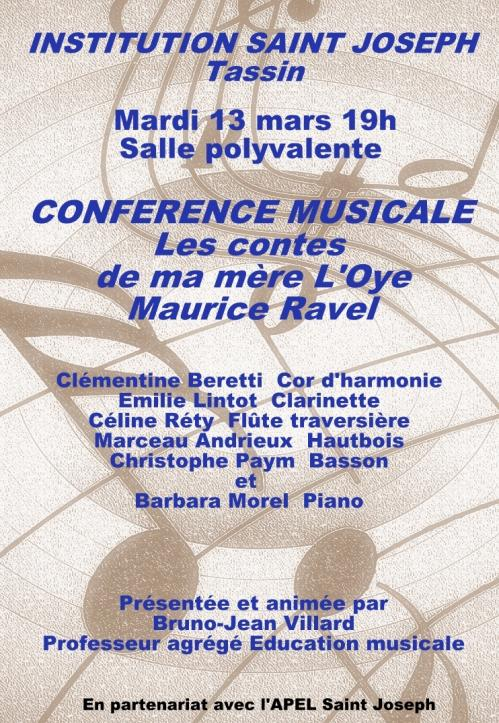Affiche conference musicale