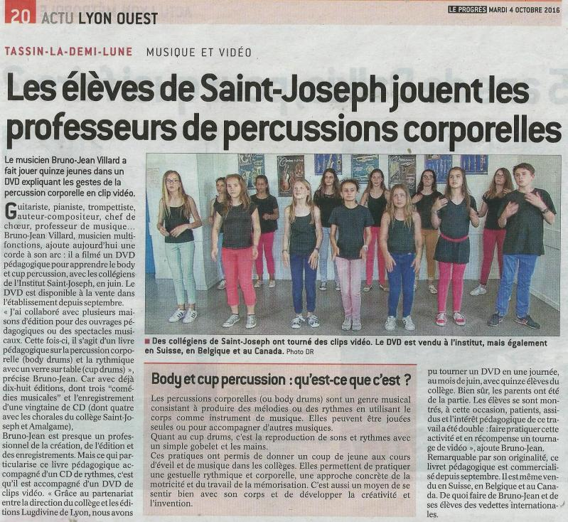 Article body cup percussion octobre 2016