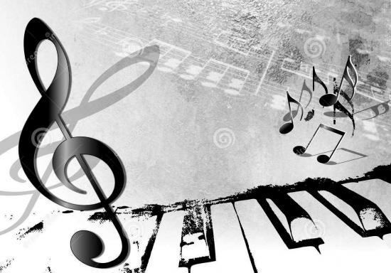 Fond de musique de vintage piano grunge et notes 32000732