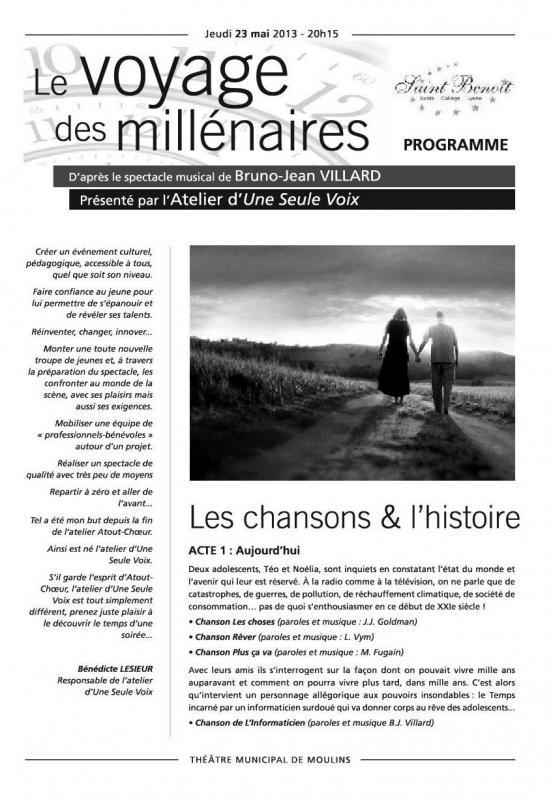 Programme les millenaires 2013 1
