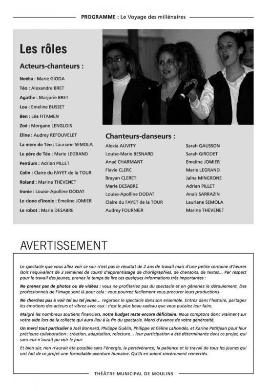 Programme les millenaires 2013 3
